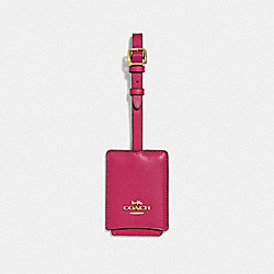 COACH 69970 Luggage Tag BRIGHT CHERRY/GOLD