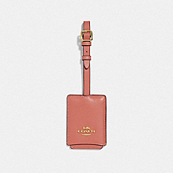COACH 69970 Luggage Tag LIGHT PEACH/GOLD