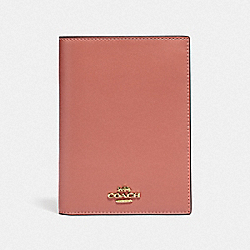 COACH 69971 Passport Case LIGHT PEACH/GOLD
