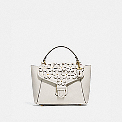 COURIER CARRYALL 23 WITH FLORAL APPLIQUE - 700 - B4/CHALK