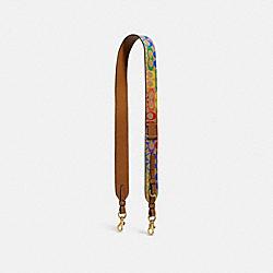 COACH 709 Strap In Rainbow Signature Canvas B4/TAN PENNY MULTI