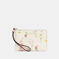 COACH 7249 - CORNER ZIP WRISTLET WITH SPACED WILDFLOWER PRINT IM/CHALK MULTI