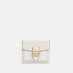 COACH 7250 - GEORGIE SMALL WALLET IN SIGNATURE CANVAS IM/CHALK/CHALK