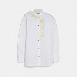 COACH 72556 - RUFFLE SHIRT WHITE.