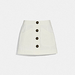 COACH 72580 - SHORT CARGO SKIRT WHITE