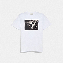 COACH 72592 - DISNEY X COACH DISNEY PRINT T-SHIRT OPTIC WHITE WITH BAMBI
