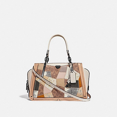 COACH 72672 DREAMER WITH SIGNATURE PATCHWORK TAN-BEECHWOOD-MULTI/PEWTER
