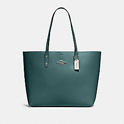 COACH 72673 - TOWN TOTE SV/DARK TURQUOISE