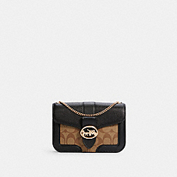GEORGIE CROSSBODY IN SIGNATURE CANVAS - 7287 - IM/KHAKI/BLACK