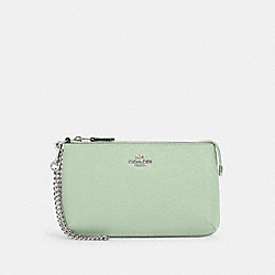 COACH 73044 - LARGE WRISTLET SV/PALE GREEN