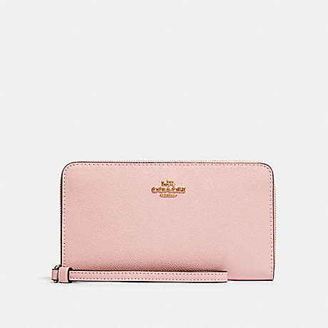 COACH LARGE PHONE WALLET - IM/BLOSSOM - 73413