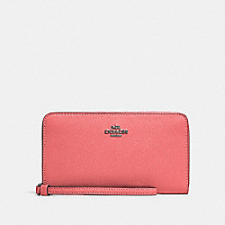 COACH 73413 Large Phone Wallet QB/PINK LEMONADE