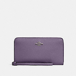 COACH 73413 - LARGE PHONE WALLET SV/DUSTY LAVENDER