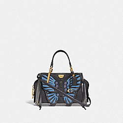 DREAMER 21 WITH WHIPSTITCH BUTTERFLY - 73417 - BLACK MULTI/BRASS