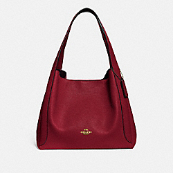 COACH 73549 Hadley Hobo GOLD/DEEP RED