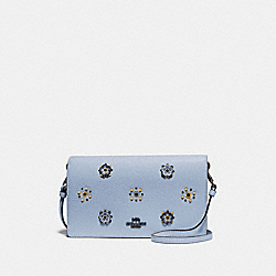 COACH 73569 - HAYDEN FOLDOVER CROSSBODY WITH SCATTERED RIVETS PEWTER/MIST