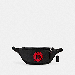 COACH 7358 Coach X Michael B. Jordan Warren Belt Bag In Signature Canvas QB/BLACK