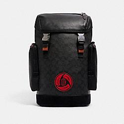 COACH 7364 Coach X Michael B. Jordan Ranger Backpack In Signature Canvas QB/BLACK