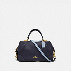 COACH 73720 Lane Satchel In Colorblock INK MULTI/BRASS