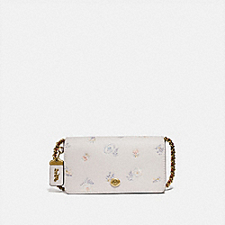 COACH 73726 - DINKY WITH MEADOW PRAIRIE PRINT BRASS/CHALK