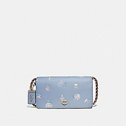 COACH 73726 Dinky With Meadow Prairie Print SILVER/MIST