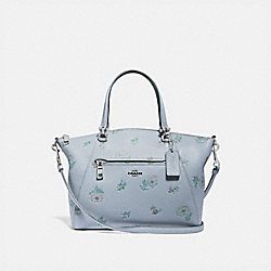 COACH 73733 - PRAIRIE SATCHEL WITH MEADOW PRAIRIE PRINT SILVER/MIST