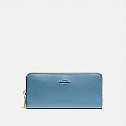 COACH 73738 - SLIM ACCORDION ZIP WALLET B4/PACIFIC BLUE