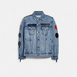 COACH 7373 Coach X Michael B. Jordan Denim Trucker Jacket INDIGO
