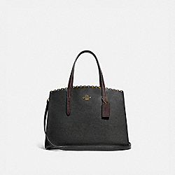 COACH 73845 Charlie Carryall With Scallop Rivets BLACK MULTI/BRASS