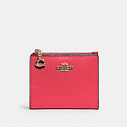 COACH 73867 Snap Card Case IM/ELECTRIC PINK