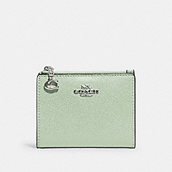 COACH 73867 Snap Card Case SV/PALE GREEN