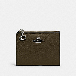 COACH 73867 - SNAP CARD CASE SV/CARGO GREEN