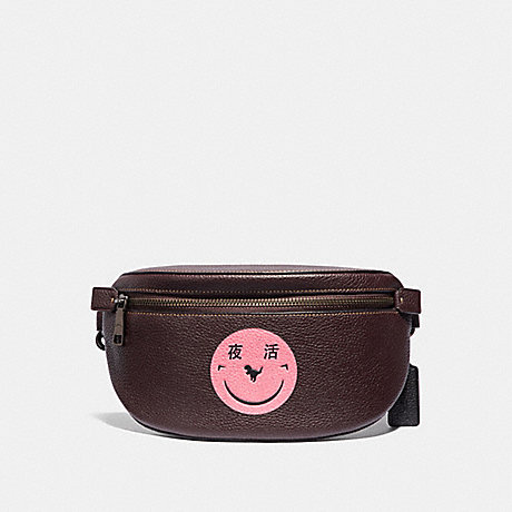 COACH 73938 BELT BAG WITH REXY BY YETI OUT V5/OXBLOOD