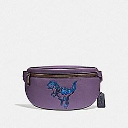 COACH 73940 - BELT BAG WITH REXY BY ZHU JINGYI DUSTY LAVENDER/PEWTER