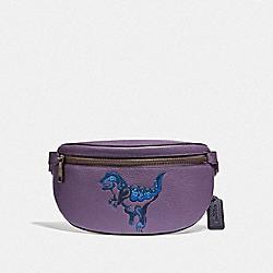COACH 73940 Belt Bag With Rexy By Zhu Jingyi DUSTY LAVENDER/PEWTER