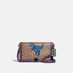 COACH 73942 - RILEY IN SIGNATURE CANVAS WITH REXY BY ZHU JINGYI V5/TAN DUSTY LAVENDER