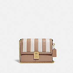 COACH 739 Hutton Shoulder Bag With Colorblock Quilting B4/TAUPE MULTI