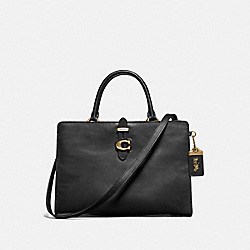 COACH 74077 Serra Satchel In Colorblock BRASS/BLACK MULTI