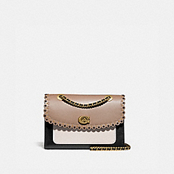 COACH 74090 Parker With Scallop Rivets STONE MULTI/BRASS