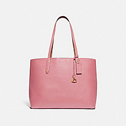 CENTRAL TOTE WITH SIGNATURE CANVAS BLOCKING - 74104 - V5/TAN TRUE PINK