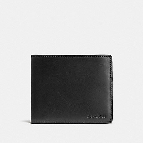 COACH 74896 COMPACT ID WALLET BLACK