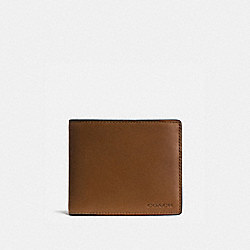 COACH 74896 - COMPACT ID WALLET DARK SADDLE