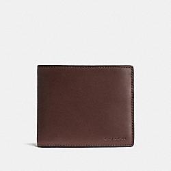 COACH 74896 Compact Id Wallet MAHOGANY