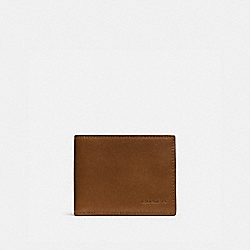 COACH 74900 - SLIM BILLFOLD ID WALLET DARK SADDLE