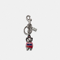 DISNEY X COACH MULAN BEAR BAG CHARM - SV/PINK - COACH 7532