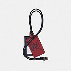 COACH 75503 Id Lanyard Card Case With Rexy By Guang Yu CARNELIAN