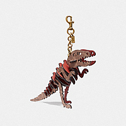 COACH 75530 - MEDIUM REXY BAG CHARM IN SIGNATURE CANVAS RUST/BRASS