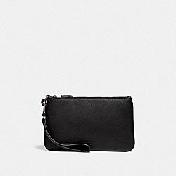 COACH 75616 Phone Pouch In Colorblock BLACK/DARK HONEY