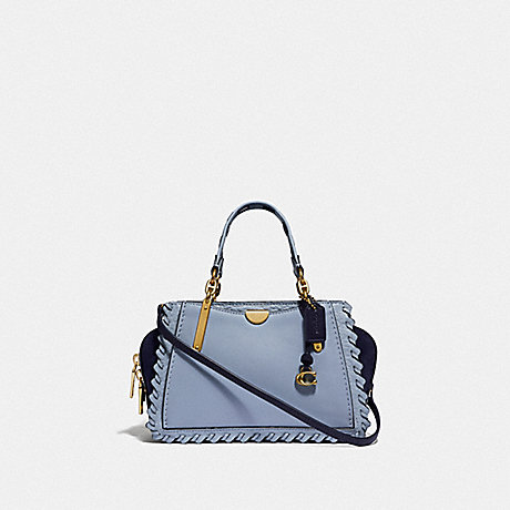 COACH 75697 DREAMER 21 IN COLORBLOCK WITH WHIPSTITCH BRASS/MIST-MULTI