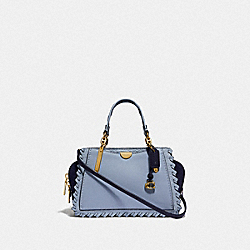 COACH 75697 Dreamer 21 In Colorblock With Whipstitch BRASS/MIST MULTI